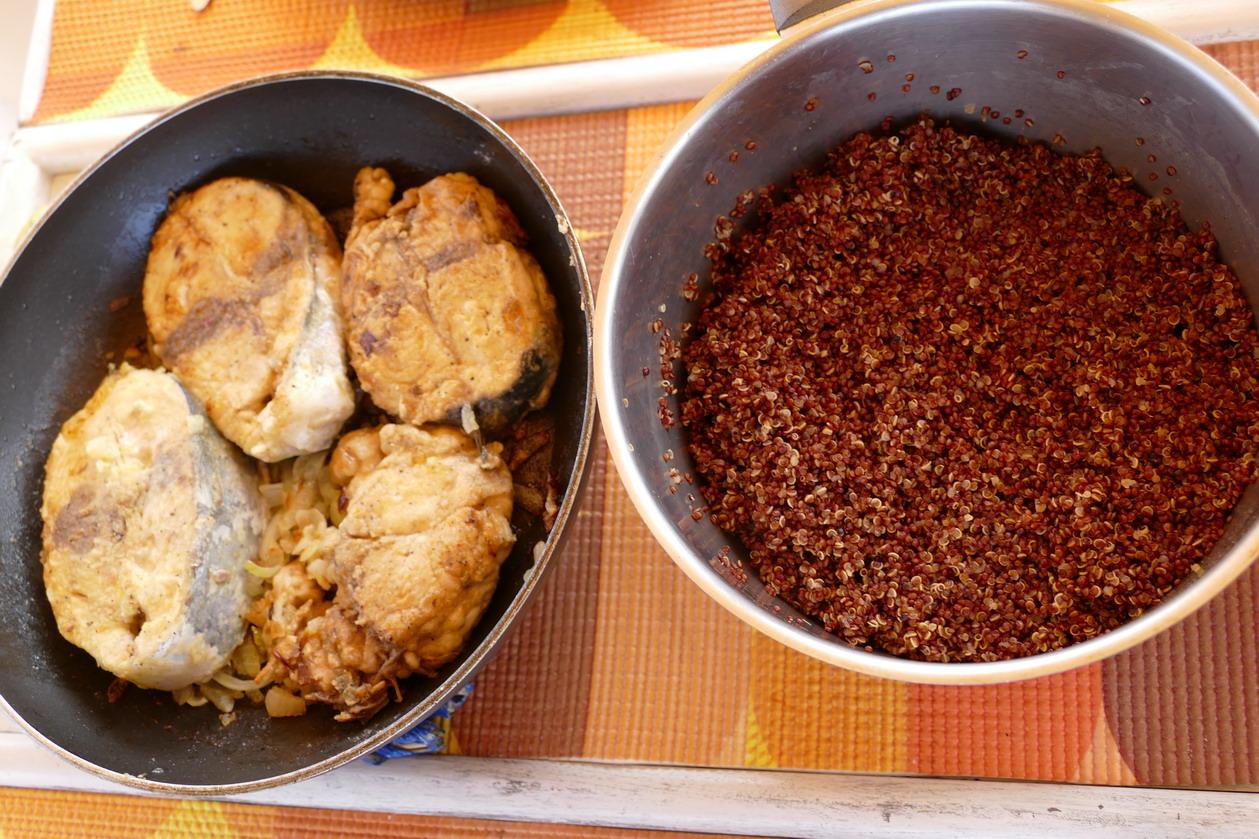 24. Darnes de thon frais et quinoa au menu