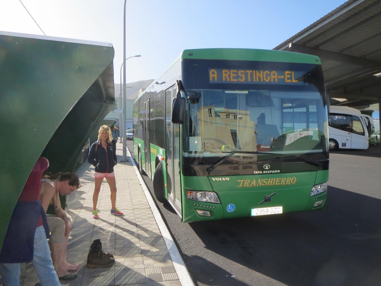 24. Estacion de guaguas de Valverde, retour vers La Restinga