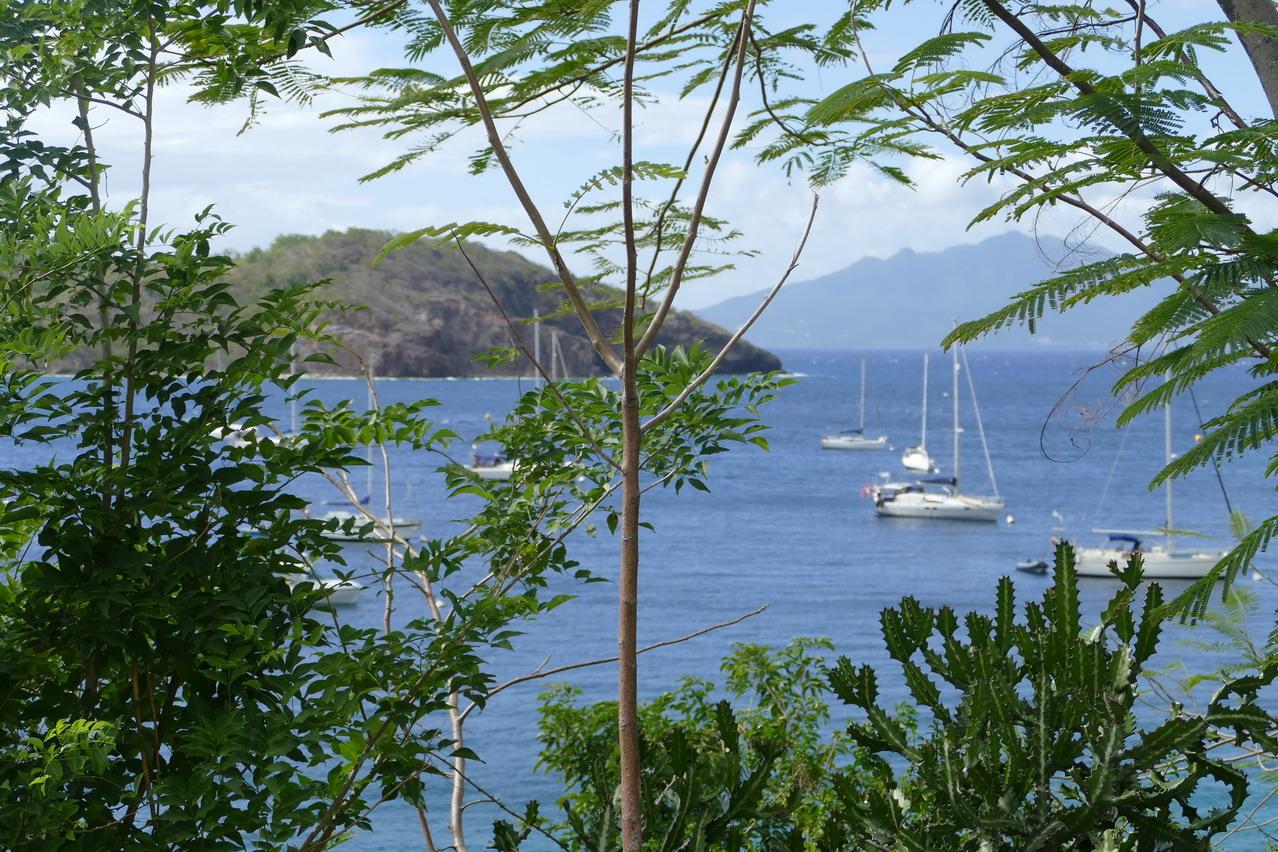 25. L'archipel des Saintes ; une des zones de mouillage