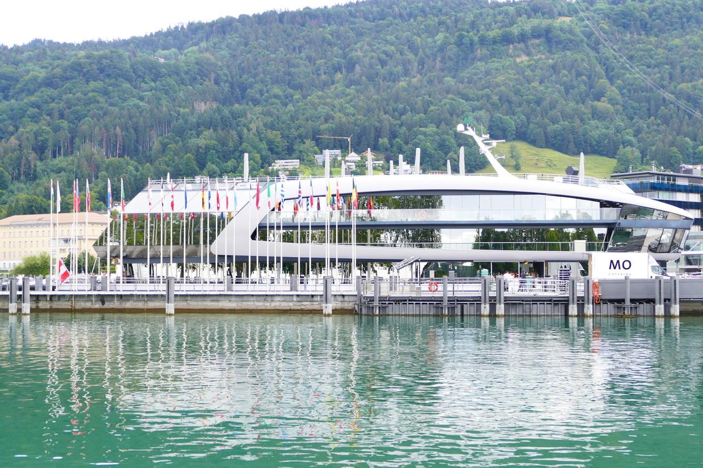 28. Le lac de Constance - Bregenz, un café-restaurant en forme de bateau