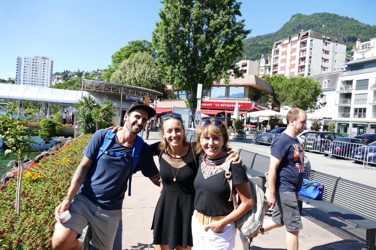 29. Lac Léman - Montreux, Natalia et Vincent, nos équipiers de navigation vers le Brésil en 2015