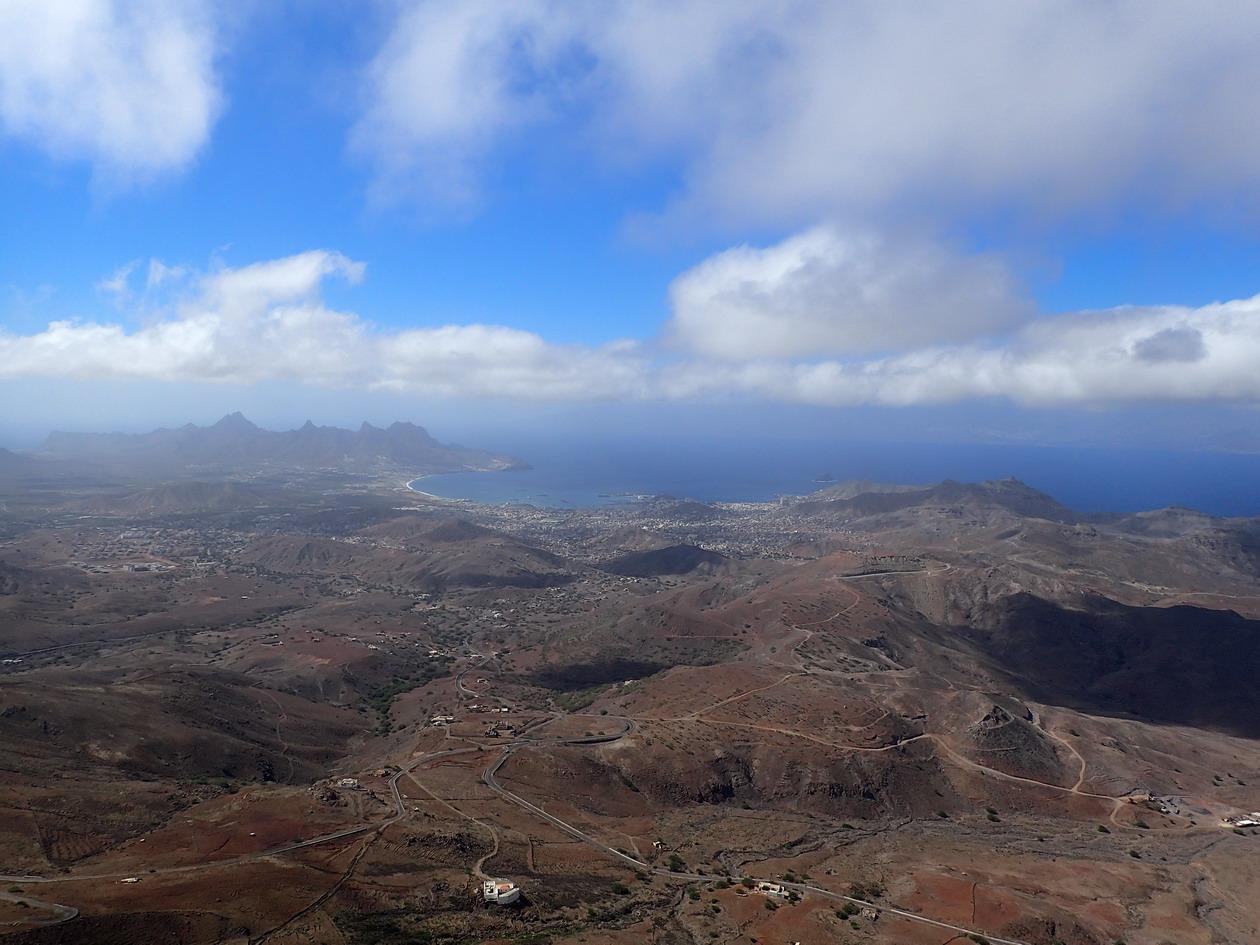 30. Vue du monte Verde la baie de Mindelo