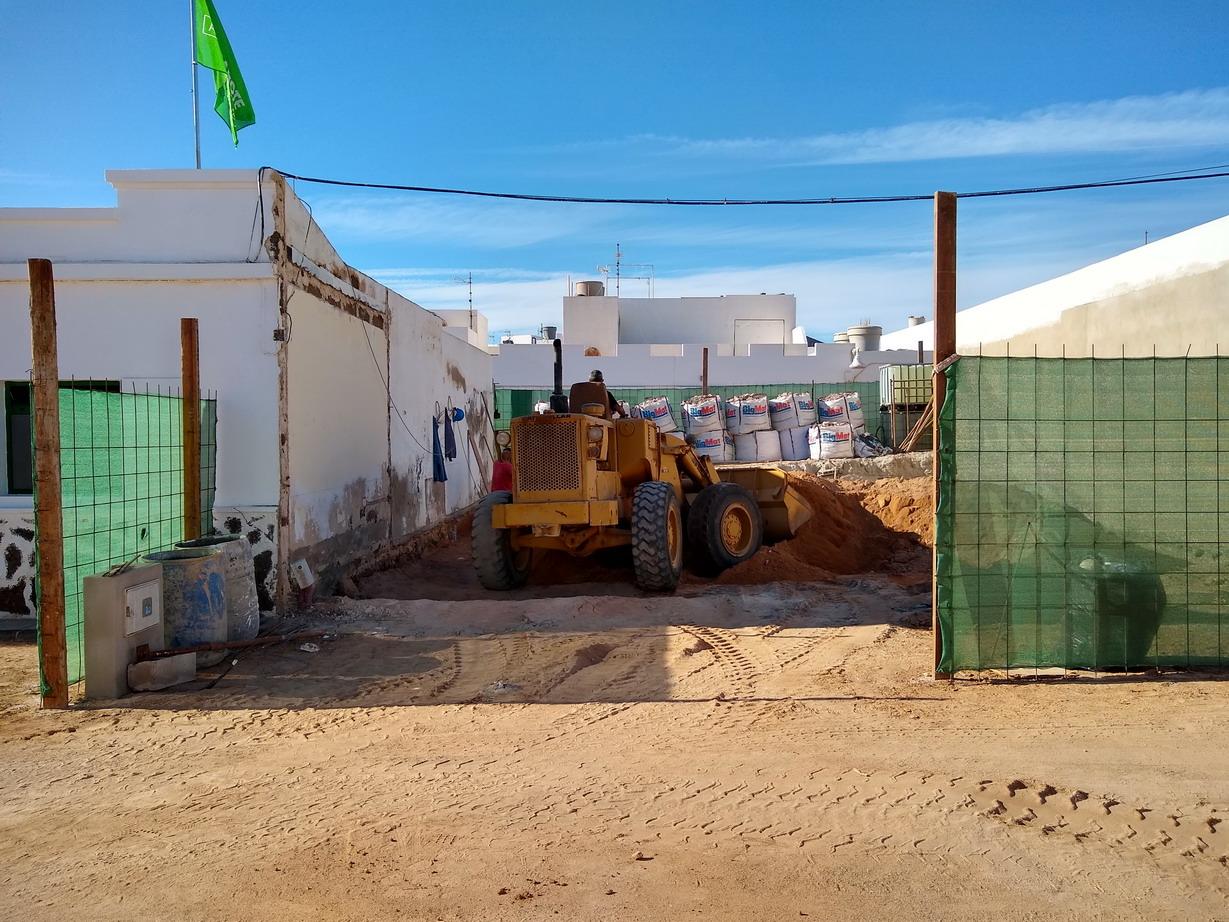 31. La Graciosa - la Caleta de Sebo, un chantier en cours