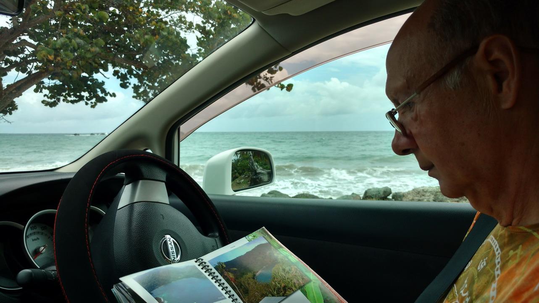 31. La côte sauvage à l'est ; conduite à gauche, voiture automatique et routes en lacets hyperpentues ; on s'habitue