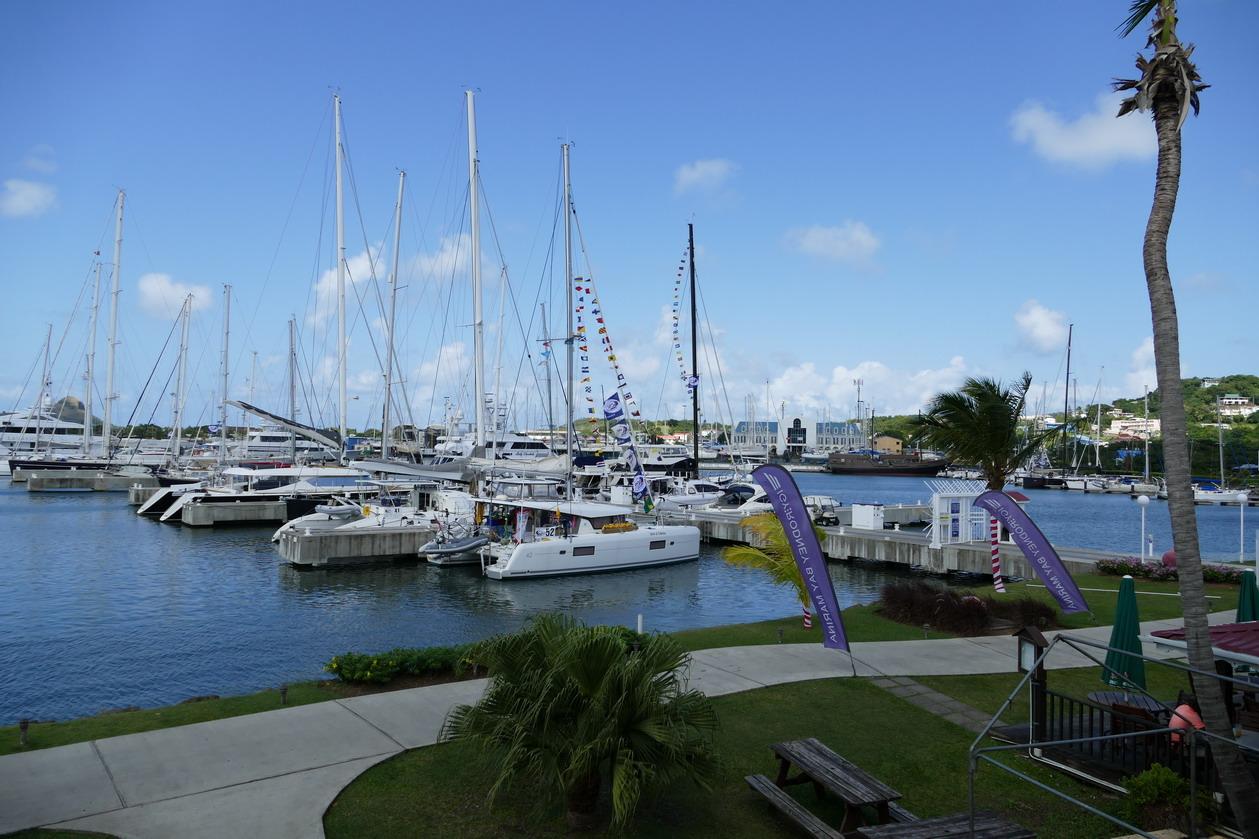34. Ste Lucie, Rodney bay, la marina IGY qui accueille l'ARC