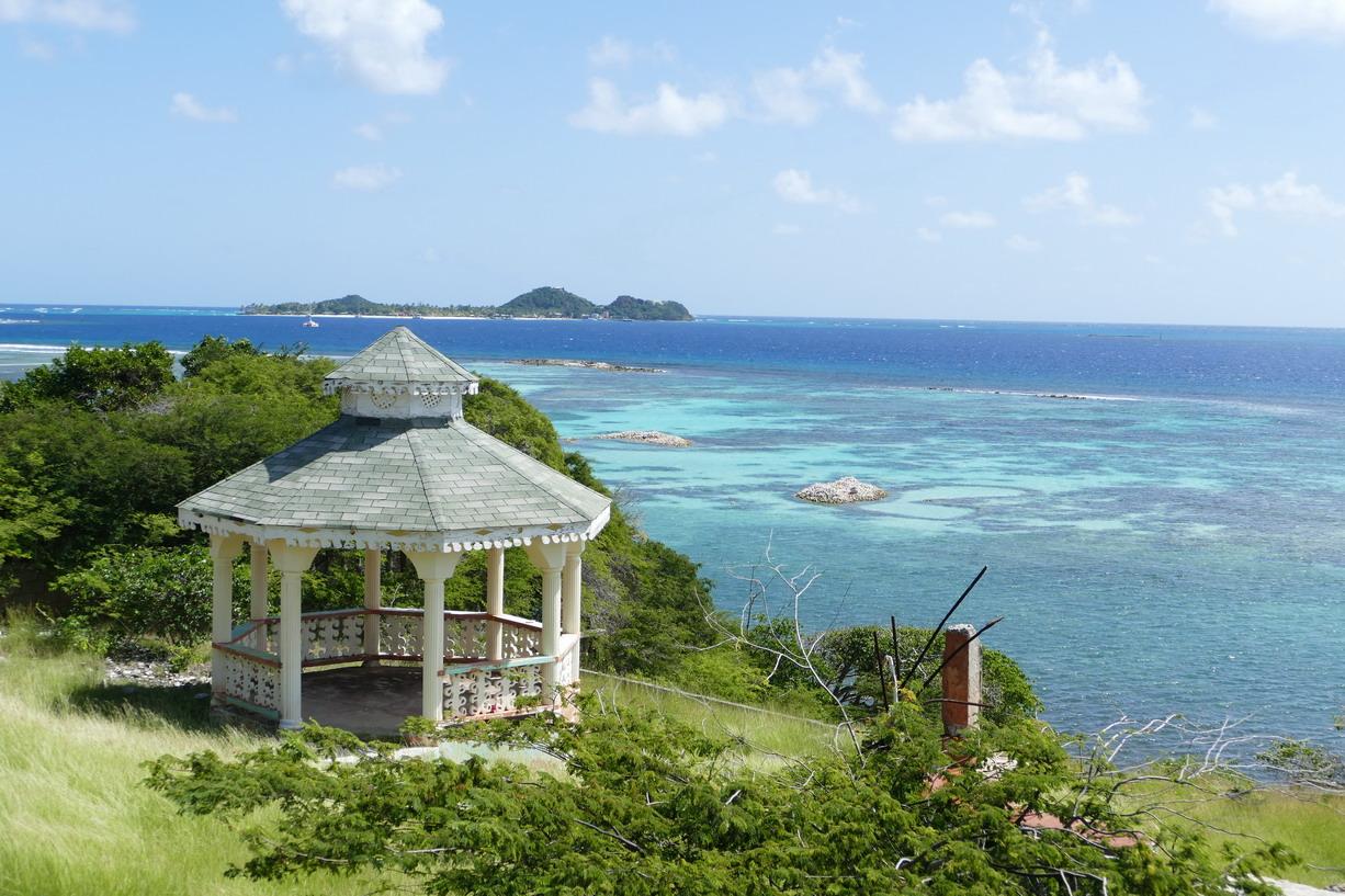 34. Union island, vue sur Palm island