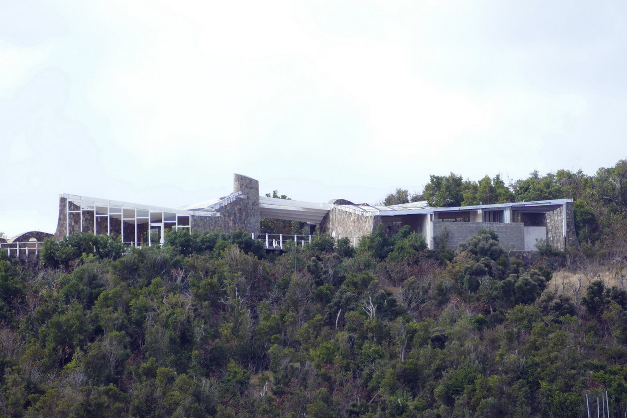 36. St Barth, l'anse de Colombier, la villa Rockfeller