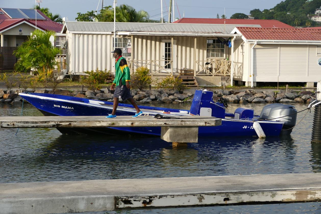 36. Ste Lucie, Rodney bay, la marina IGY, une barque