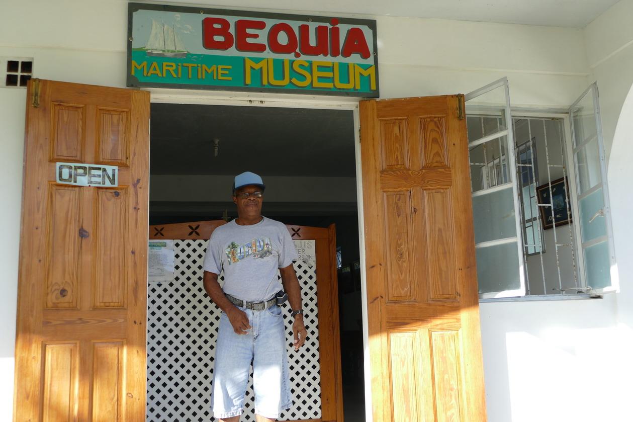 37. Bequia, Port Elisabeth, le petit musée de bateau modélisme de Lawson Sergent