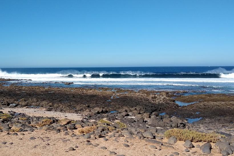 37. La Graciosa - la côte ouest et ses énormes rouleaux