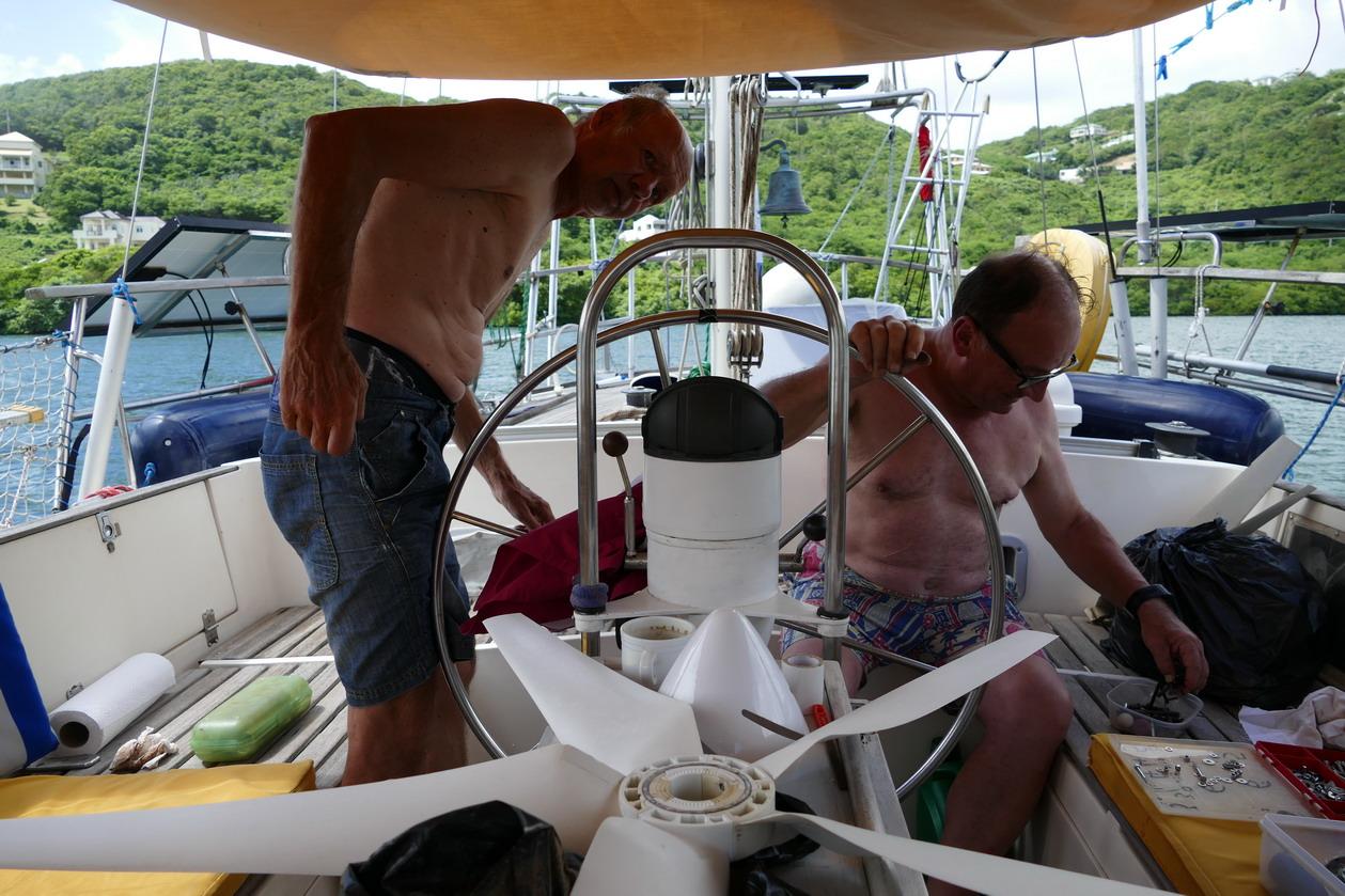 38. Démontage de l'éolienne pour réparation