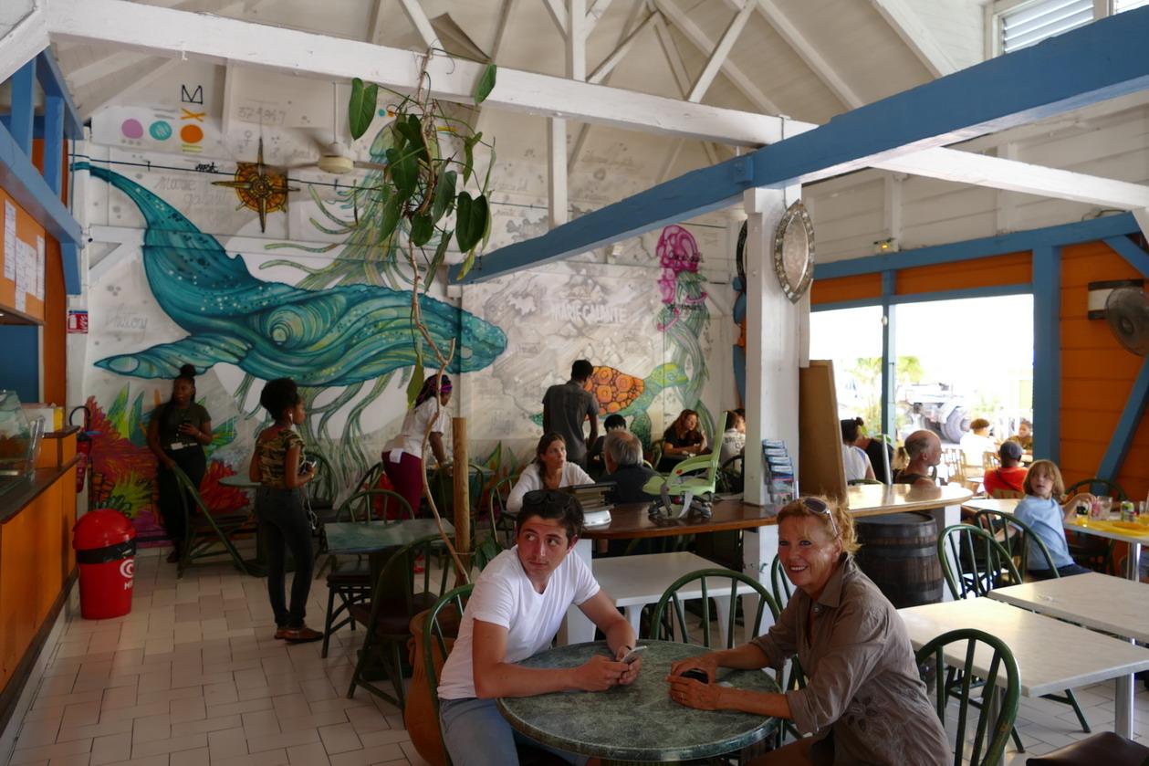 38. Marie-Galante ; Grand-Bourg, le restaurant Ornata le temps d'un déjeuner