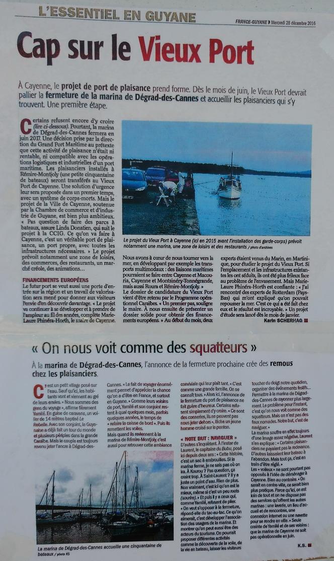 44. Projet de nouvelle marina à Cayenne
