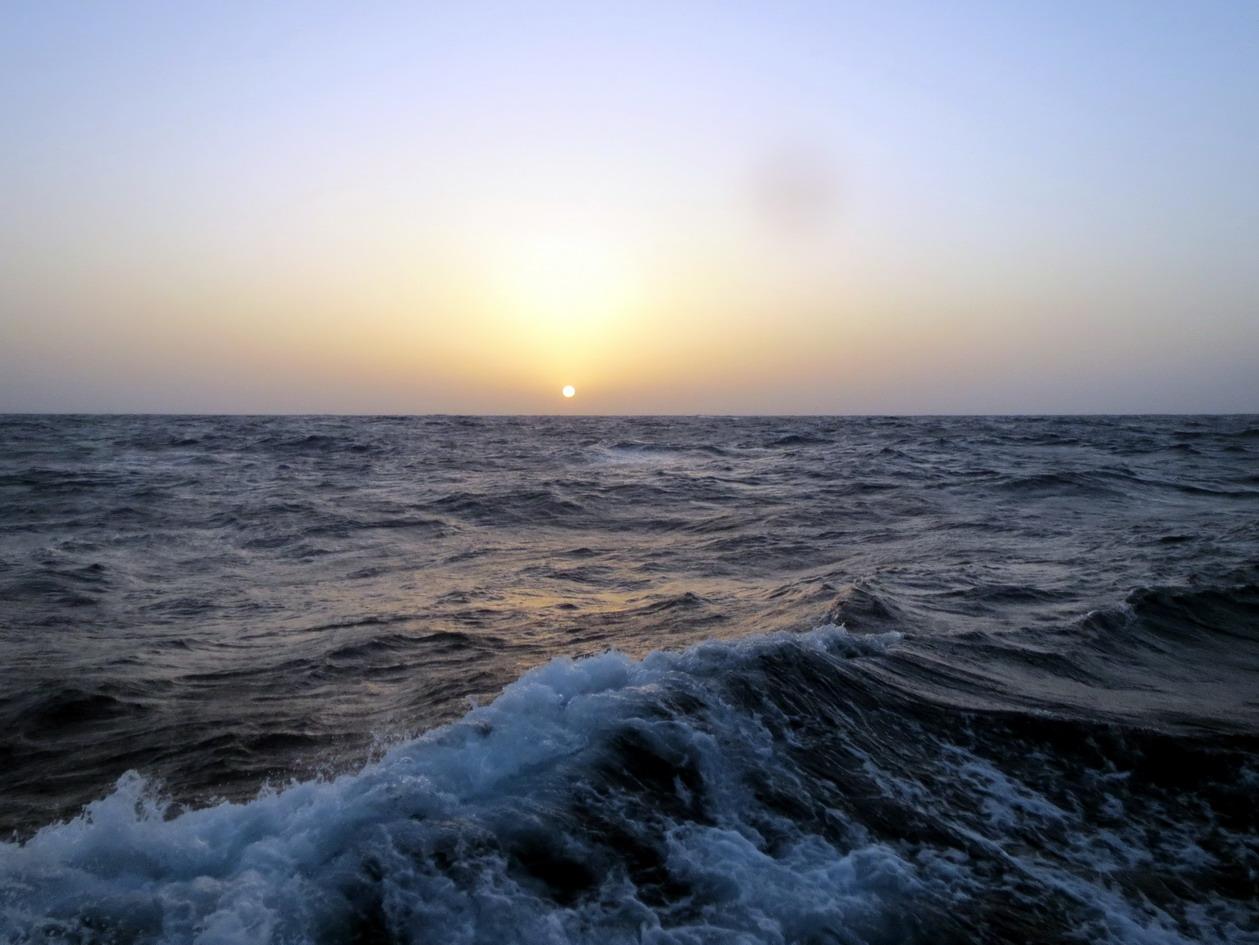 5. En route vers le sud, premier coucher de soleil